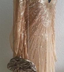 Svečana zlatna haljina 36 38