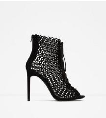Zara crne sandale 37