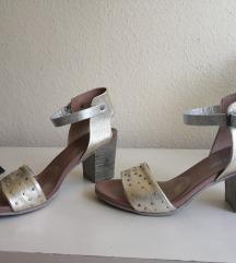 Kožne sandale na debelu petu 38.5-39