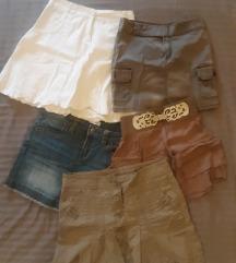 LOT od 5 mini suknji  36/38 (SA UKLJ. PT)
