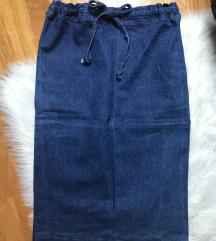 Paper bag jeans suknja M