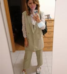 Zara zeleno odijelo Xs/S
