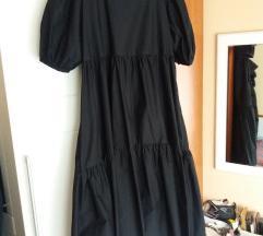 Zara crna haljina sa volumenom