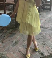 Zara žuta haljina sa resama