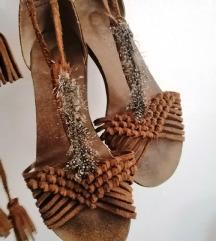 Boho kožne sandale