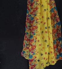 Cvjetni žuti šal marama