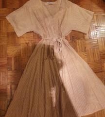 Mango haljina lan i pamuk