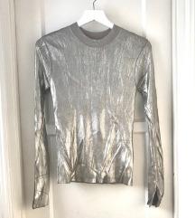 Zara sjajna srebrna vesta majica