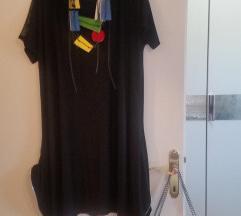 Dizajnerska tunika/haljina s ukrasnim patentom