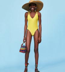 *SAD 119* ZARA žuti jednodijelni kupaći NOVO