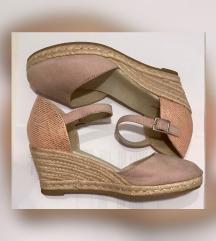 Ljetne sandale Špagerice puna peta  3,8,5-39
