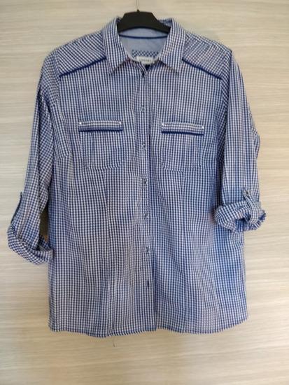 C&a karirana plava košulja vel 46