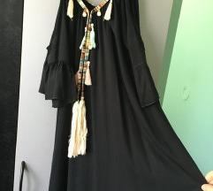 Crna ljetna boho haljina