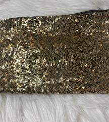 Zlatna mini torbica