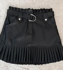 Crna suknja kožna zara