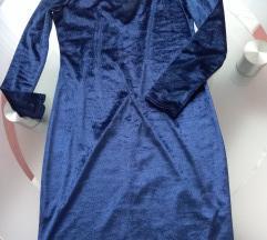 Nova tamnoplava baršunasta haljina