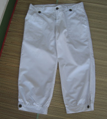 Bijele 3/4 hlače vel.164