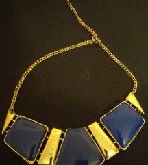 Ogrlica zlatno-plava