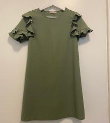 Zara kratka zelena haljina