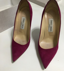 Dark Orchid Kayomi Suede and Patent Leather Pumps