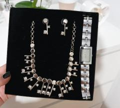 Set nakita( ogrlica, nausnice, sat)