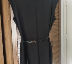 Mini crna haljina s remenom