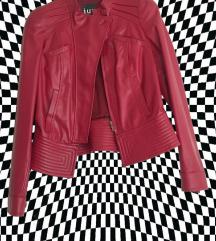 Vintage crvena kožna jakna