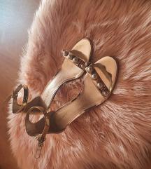 zlatne sandale Nine West