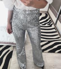 BERSHKA šljokičaste hlače