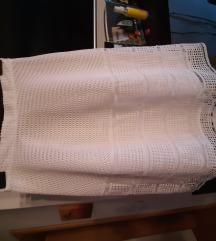 Cipkana bijela suknja NOVA