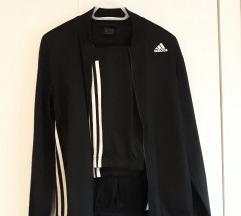 Adidas crna trenirka KOMPLET