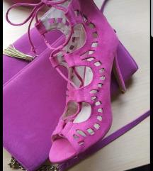 Lot štikle sandale i torbica
