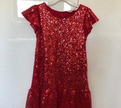 Svečana crvena haljinica vel 122