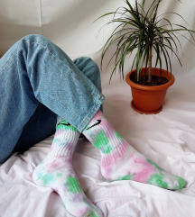 pastelne Nike ručno bojane čarape tie dye