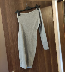 Pletena haljina na jedno rame