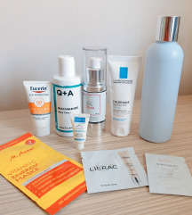 Skincare rutina - gel, tonik, serum, krema, spf
