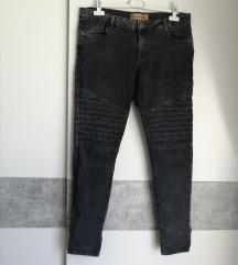 Crno sive skinny traperice