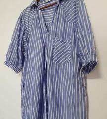 Nova Zara prugasta košulja/tunika s džepovima