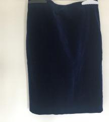 Vintage Plava Plisana Suknja