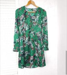 VERO MODA zelena cvjetna haljina tunika