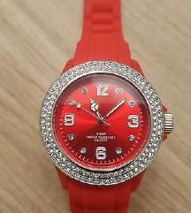 Novi crveni sat sa swarovskim kristalima