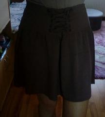 %Lagana smeđa suknja%