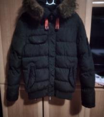 Maslinasta zimska jakna S za dečke