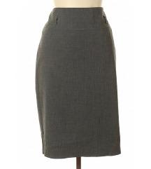 Poslovna siva uska suknja