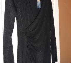 NOVA crna haljina sa sitnim sljokicama - gratis pt