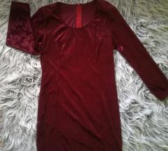 Borda plišana haljina