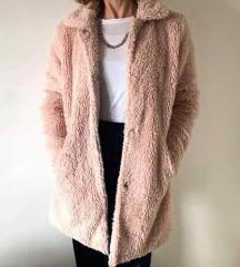 Teddy Coat - puder roze boje - HIT boje