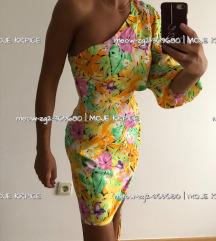 NOVA s etik Floral/ cvjetna haljina na jedno rame