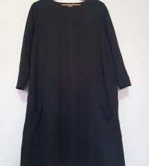 NOVA H&M crna haljina s džepovima