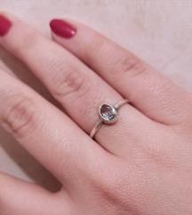 Prsten srebro i akvamarin (izrada po narudžbi)